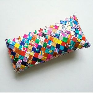 Upcycled Candy Wrapper Woven Clutch Bag Purse